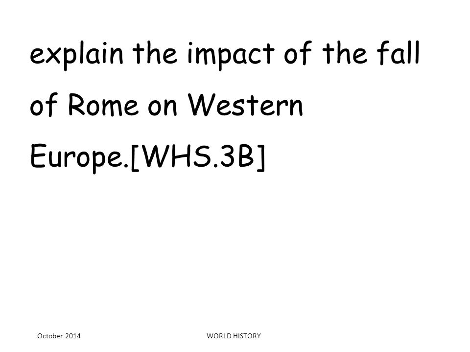"""an introduction to the causes for the fall of rome Amazoncom: the fall of rome: and the end of civilization  he states at one  point that """"the fifth century invasions caused these difficulties, and brought down ."""